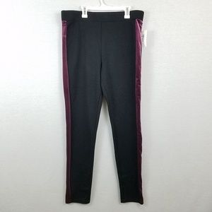 Black Solid Velvet Trim Legging Style & Co